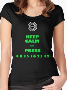 Keep calm lost Women's Fitted Scoop T-Shirt