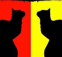 yellow cat (slash) red cat. by chaos josh.