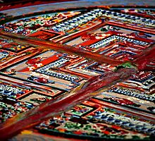 dissolution, sand mandala. india by tim buckley | bodhiimages