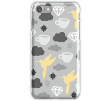 Cloudy Morning with Puzzles and Diamonds iPhone Case/Skin