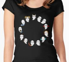Cute ghost zodiac signs v2 Women's Fitted Scoop T-Shirt