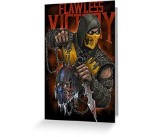 Scorpion: Flawless Victory Greeting Card