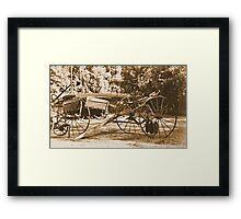 Vintage Farm Equipment Framed Print