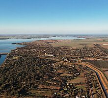 Yarrawonga from the air by David Hunt