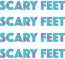 Sulley Scary Feet Monsters Inc Text Photographic Print