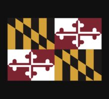 Maryland USA State Flag Baltimore Annapolis Bedspread T-Shirt Sticker Kids Clothes