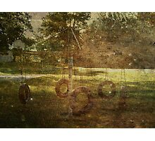 Old Tire Swing Photographic Print