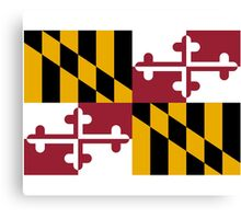 Maryland USA State Flag Baltimore Annapolis Bedspread T-Shirt Sticker Canvas Print