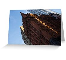 Manhattan - an Angled View of the Potter Building at Sunrise Greeting Card
