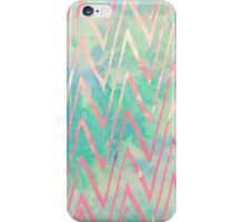 Pink Turquoise Watercolor Zigzag Chevron Pattern iPhone Case/Skin