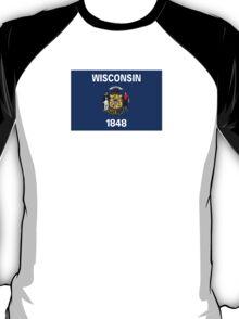 Wisconsin USA State Flag Milwaukee Bedspread T-Shirt Sticker T-Shirt