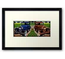 STICHED TOGETHER 1931 FORD MODEL A CAR Framed Print