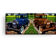 STICHED TOGETHER 1931 FORD MODEL A CAR Canvas Print