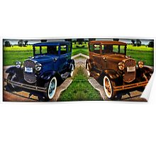 STICHED TOGETHER 1931 FORD MODEL A CAR Poster