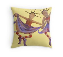 Rag Doll Dance Throw Pillow