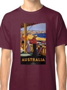 Australia Vintage Travel Poster Restored Classic T-Shirt