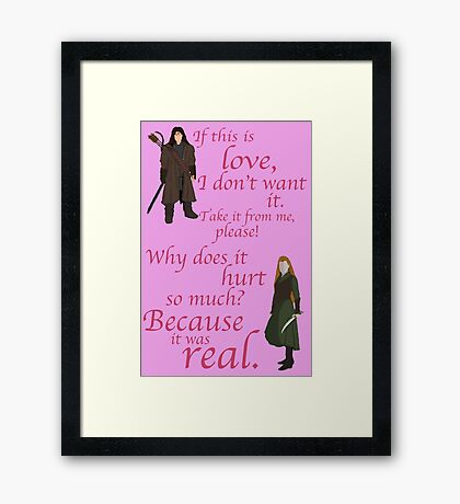 The Hobbit Why does it hurt so much Framed Print