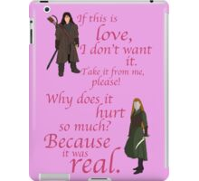 The Hobbit Why does it hurt so much iPad Case/Skin