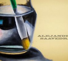 Pencil in a Yar with Water by Saavedra