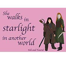 The Hobbit She walks in starlight Photographic Print