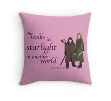 The Hobbit She walks in starlight Throw Pillow