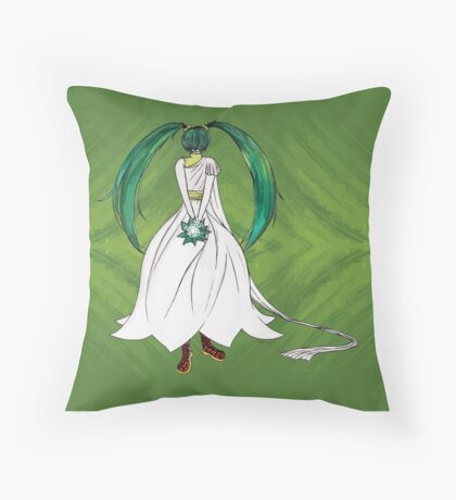 Flower Girl : Muguet (Lily of the valley) Throw Pillow