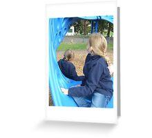 Blue Girls ~ Apex Park Greeting Card