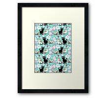 pattern lovers cats  Framed Print