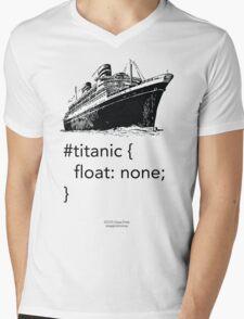 Geek Tee - CSS Jokes - Titanic Mens V-Neck T-Shirt
