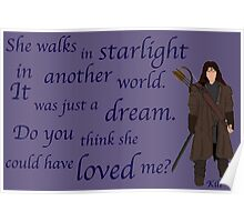 The Hobbit Do you think she could have loved me? Poster