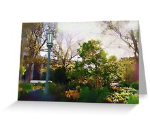Spring on the Plaza Greeting Card