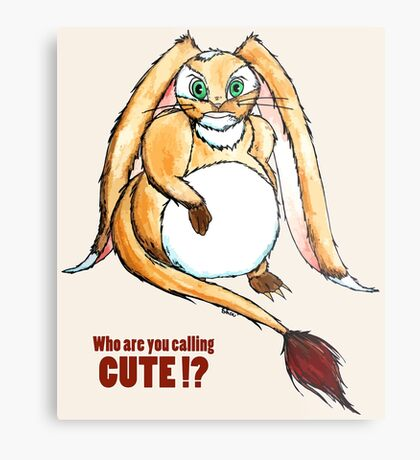 Who are you calling CUTE !? Metal Print