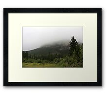 Misty Mountain Framed Print