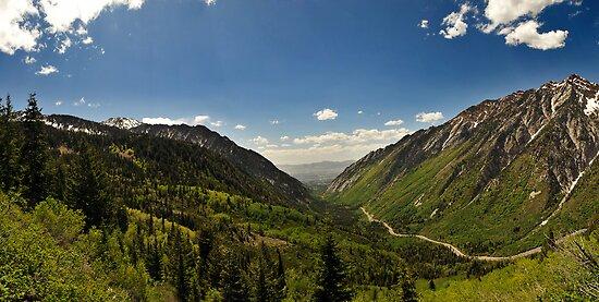 Little Cottonwood Canyon, Panoramic Shot by Ryan Houston