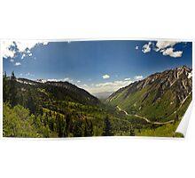Little Cottonwood Canyon, Panoramic Shot Poster