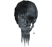 Harry Potter Skull Face Photographic Print