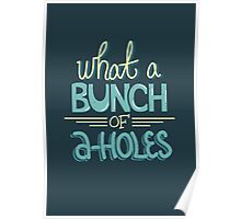 bunch of a-holes Poster