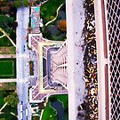 Eiffel Tower From Above by Julie Moore