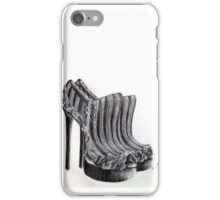 Black and White Scratch Shoes iPhone Case/Skin