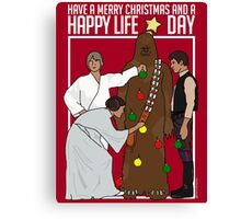Star Wars Christmas Sweater - Merry Christmas and a Happy Life Day Canvas Print