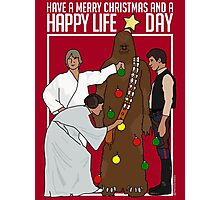 Star Wars Christmas Sweater - Merry Christmas and a Happy Life Day Photographic Print