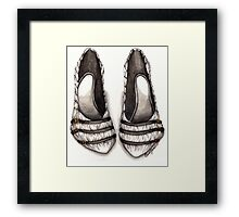 White & Black Shoe Framed Print