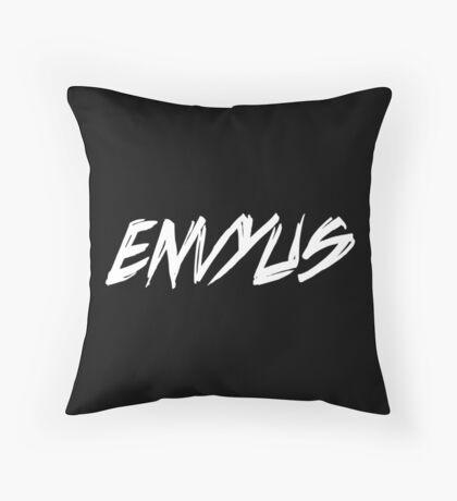 EnVyUs White Throw Pillow