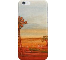 Australiana; (Red Sunset At The Windmill)  Original Sold  iPhone Case/Skin