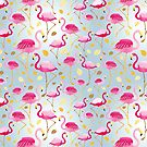 texture of pink flamingos by Tanor
