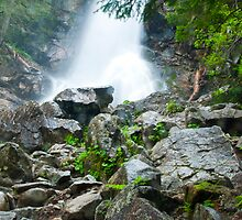 waterfall in Tatra National Park in Slovakia by zuzanab