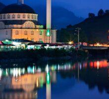Mosque at Uzungol - Turkey Sticker