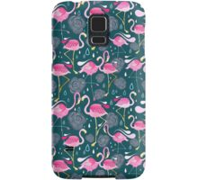 pattern with flamingos  Samsung Galaxy Case/Skin