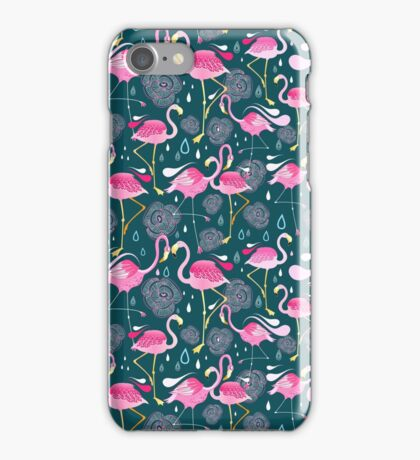 pattern with flamingos  iPhone Case/Skin