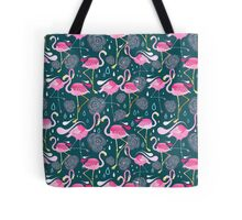 pattern with flamingos  Tote Bag